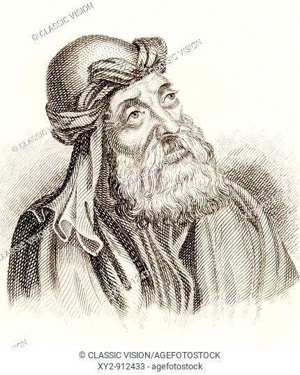 Saint Cyril of Jerusalem born circa 313 died 386  Distinguished theologian of the early Church  From the book Crabbes Historical Dictionary published 1825