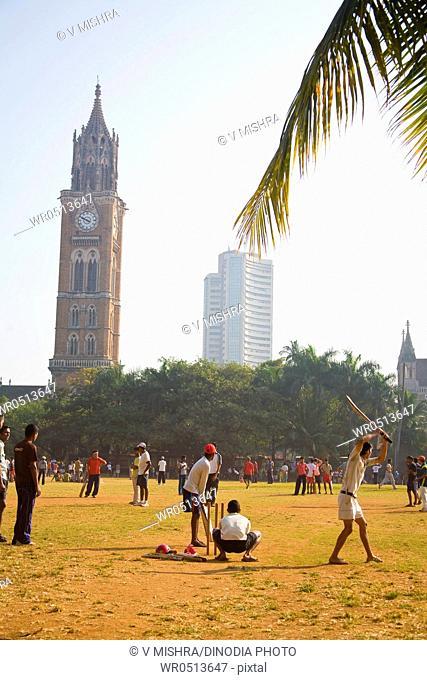 Oval maidan play ground at churchgate , Bombay , Mumbai , Maharashtra , India 20-12-2009