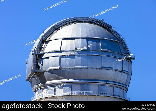 The Observatorio Astrofisico del Roque de los Muchachos, El Paso and Garafia municipalities, La Palma island, Canary Islands, Spain, Europe