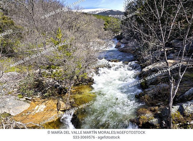 River Manzanares in The Pedriza Regional park. Manzanares el Real. Madrid. Spain