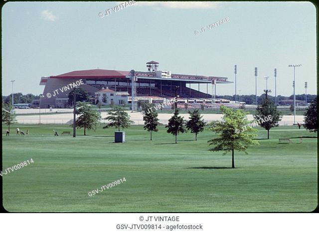 Arlington Park Race Track, Arlington Heights, Illinois, USA, 1972