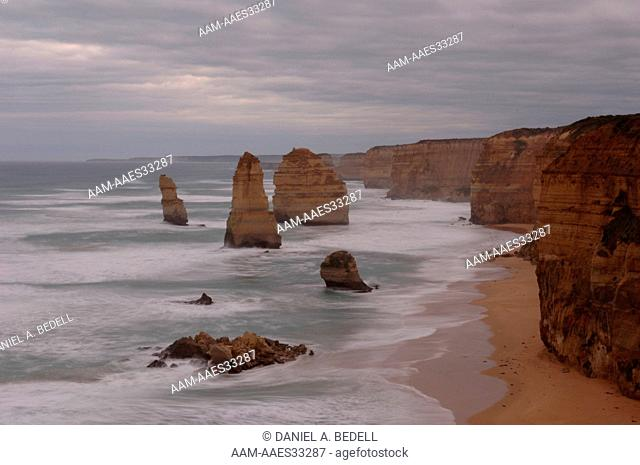 The Twelve Apostles in July of 2006, Great Ocean Road, Port Campbell National Park, Victoria, Australia