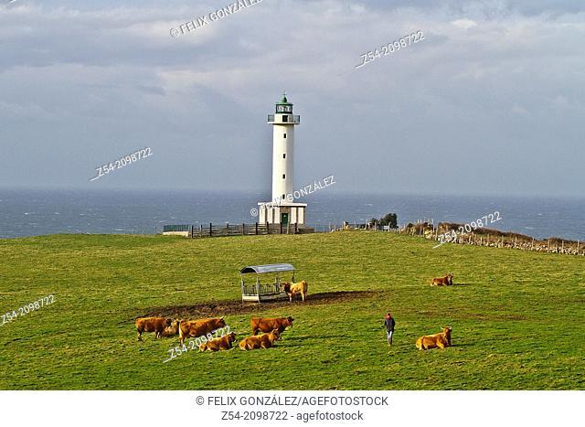 Lighthouse of Lastres, Asturias, Spain