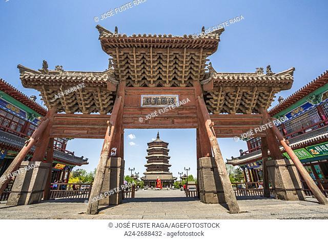 China, Shanxi Province, Xinanjiaocun City, Yingxian Wooden Pagoda, of Fogong Temple
