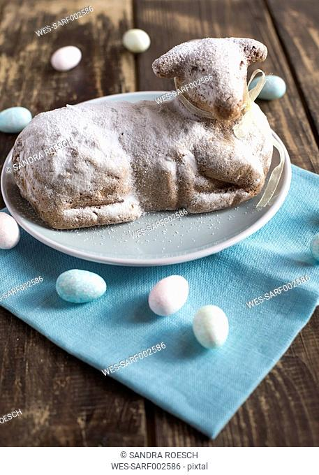 Easter lamb on plate