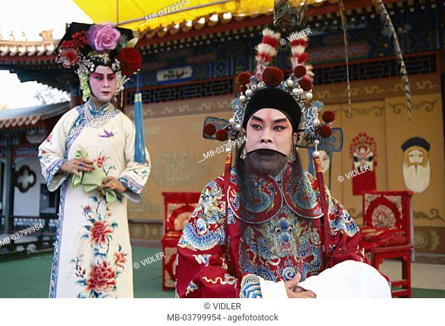 China, Peking, Peking opera, actors, Outfits, idea,  Asia, Eastern Asia, opera, opera actors, artists, made up, face painting, headdress,  Opera performance