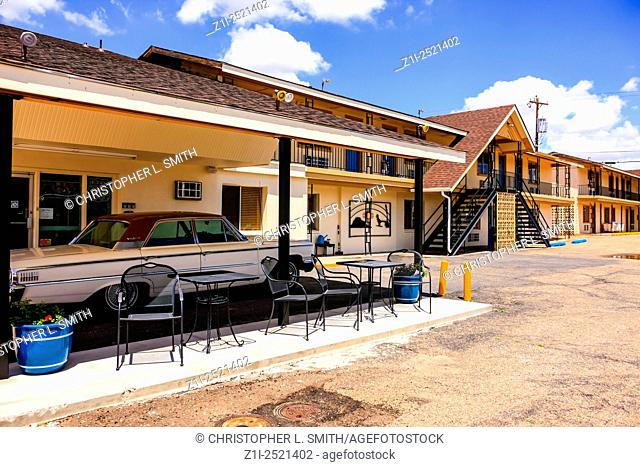 Motel Safari guest rooms on Route 66 in Tucumcari New Mexico