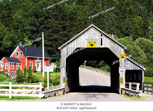Hardscrabble, Covered Bridge, Irish River, 2, 1946, St. Martin's, New Brunswick, Canada