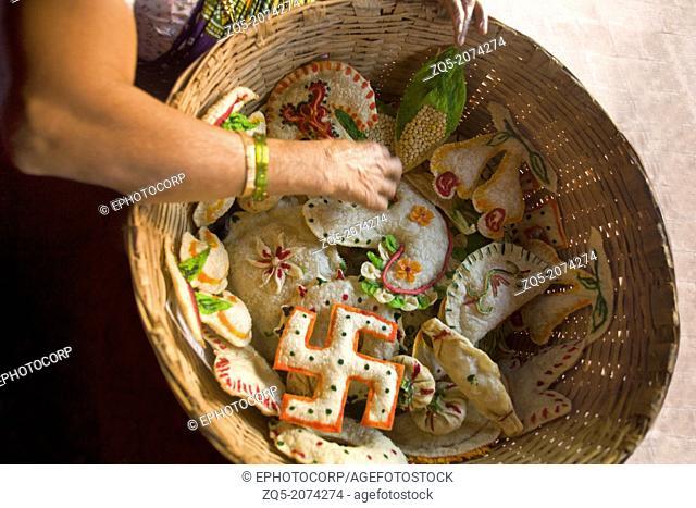 Hindu goan sweets made for baby shower, Goa, India