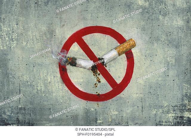 Illustration of no smoking sign