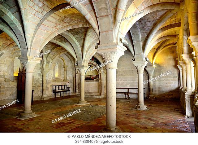Chapterhouse of the Monastery of La Veruela, Vera del Moncayo, Zaragoza, Spain. Cistercian abbey