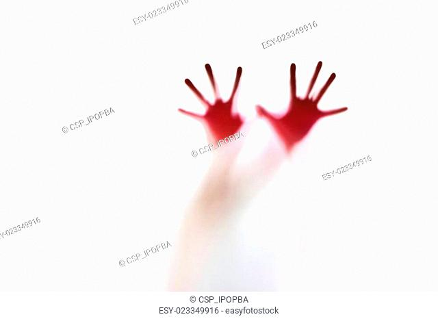Abstract silhouette of a hand, soft focus and blur