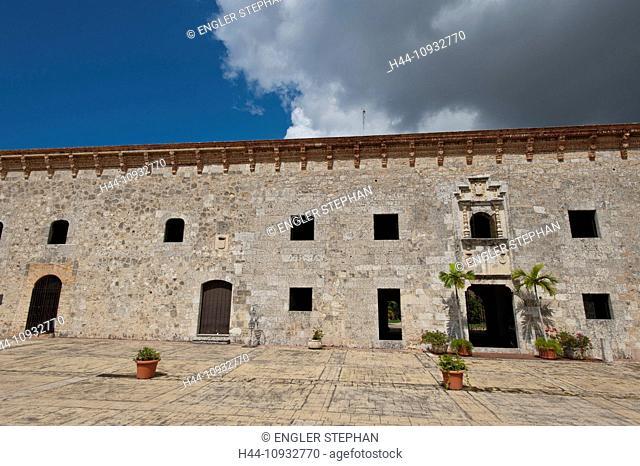 Town, City, Santo Domingo, Dominican Republic, Caribbean, Alcazar de Don Diego Colon, castle, building, construction, wall