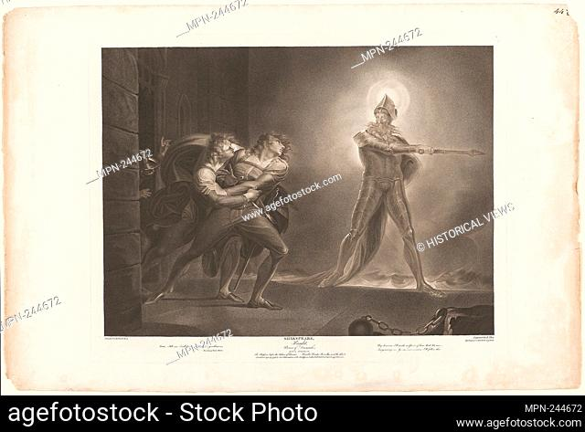 Hamlet, Horatio, Marcellus and the Ghost - 1796 - Robert Thew (English, 1758-1802) after Henry Fuseli (Swiss, active in England