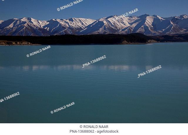 Mountains near Lake Tekapo, Southern Alps, New Zealand