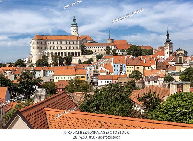 Mikulov Castle, wine region, South Moravia, Czech Republic, Europe