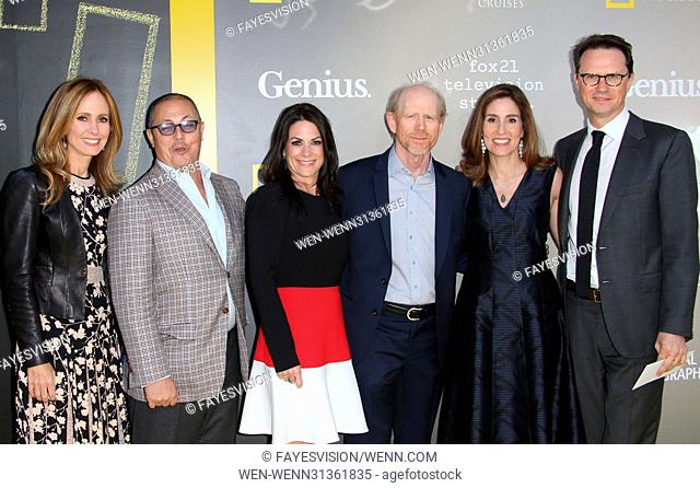 "National Geographic's Premiere Screening of """"Genius"""" Featuring: Dana Walden, Bert Salke, Courtney Monroe, Ron Howard, Carolyn Bernstein"