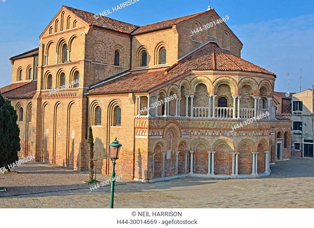 The 7th century byzantine church of St Maria and St Donato on the island of Murano, Venice. One of the oldest churches in the Venice lagoon