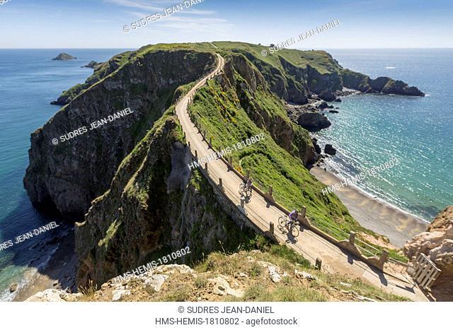 United Kingdom, Channel islands, Sark island, La Coupee