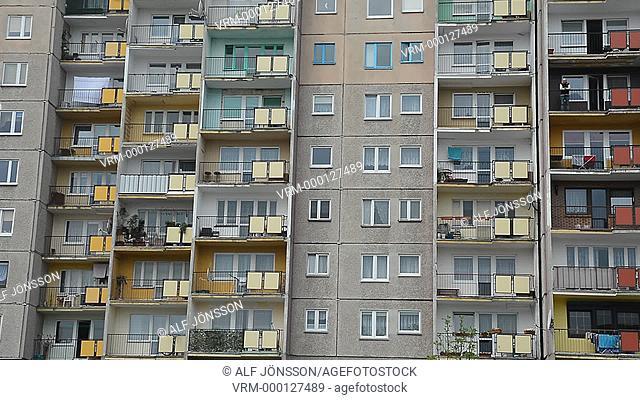 Old block of flats in Swinoujscie, Poland