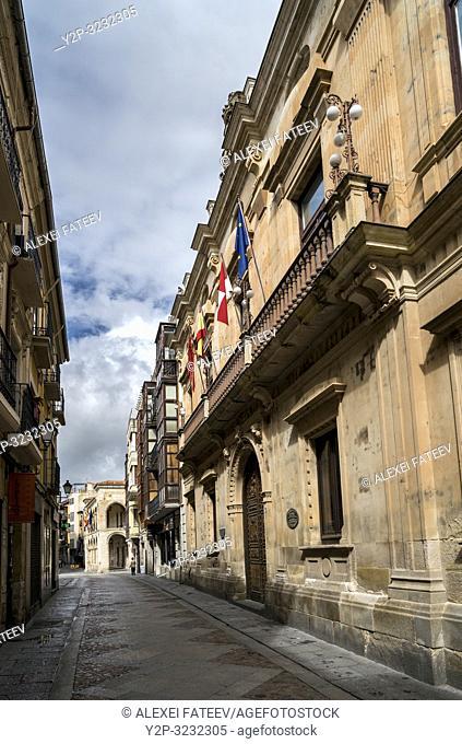 A street in Zamora, Castile and Leon, Spain