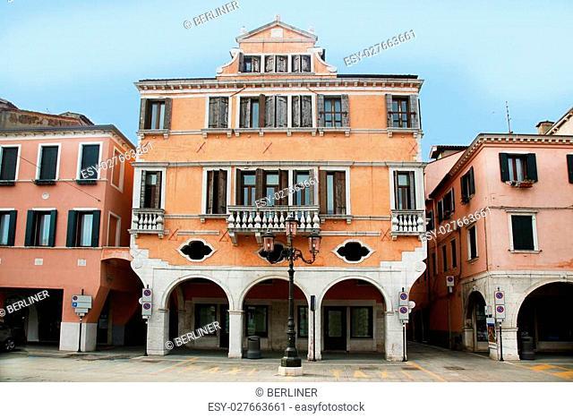 the palace Mascheroni-Lisatti in Chioggia, Veneto Italy