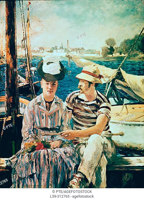 'Argenteuil' (1874) painting by Édouard Manet (1832-1883)