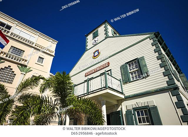 Netherlands, Sint Maarten, Philipsburg, Philipsburg Courthouse, exterior