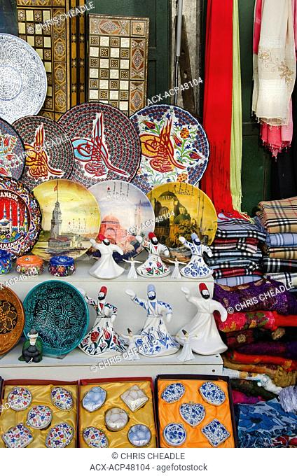 Gift shop merchandise and vendor in Istanbul, Turkey