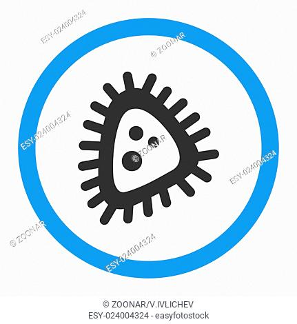 Micro Parasite Rounded Glyph Icon