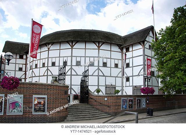 The Shakesperian Globe Theatre on banks of river Thames, London  UK