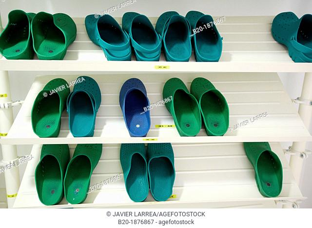 Operating room shoes in hospital Stock