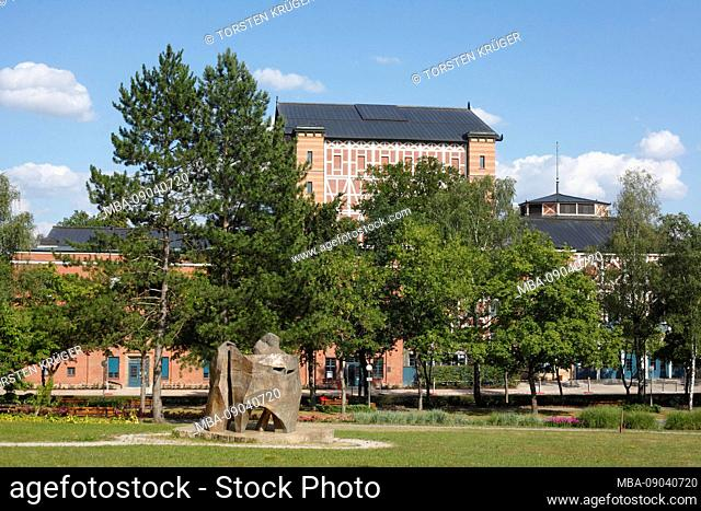 Richard Wagner Festival Theater, side view, Bayreuth, Upper Franconia, Franconia, Bavaria, Germany, Europe