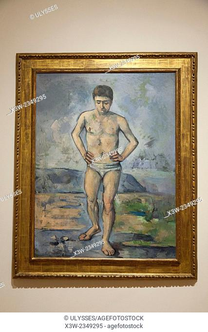 The bather, 1885, painting by Paul Cezanne, MOMA, museum of modern art, New York, USA, America