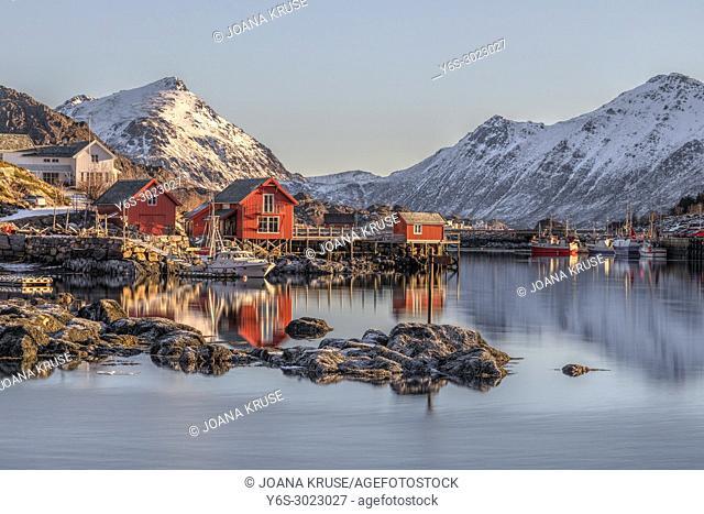 Ballstad, Leknes, Lofoten; Norway; Europe;