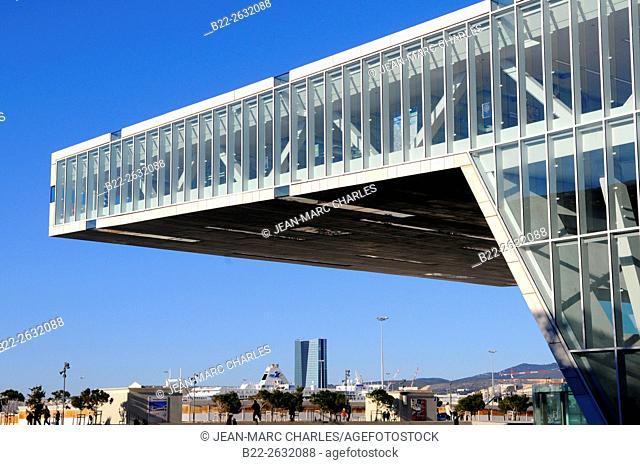 Villa Méditerranée, conference center, architect : Stefano Boeri..Marseille, Bouches-du-Rhône, région PACA, Provence-Alpes-Côte d'Azur, France