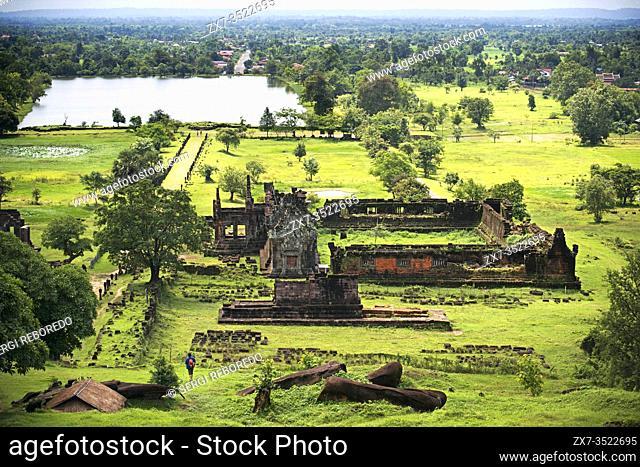 Upper levels of Wat Phu Champasak Laos