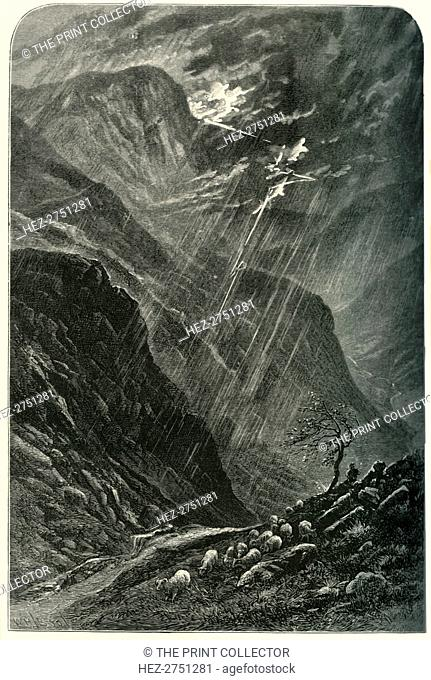 'Honister Crag and Pass', c1870