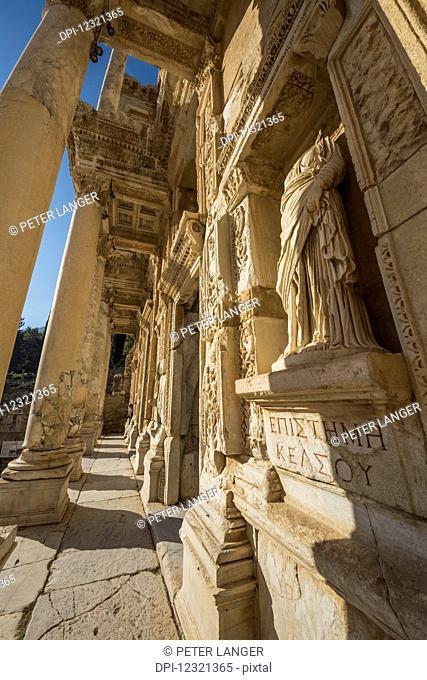 Statue of Arete (moral virtue) at the Library of Celsus; Ephesus, Izmir, Turkey