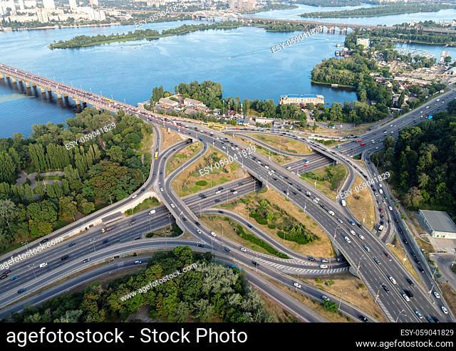 Cars ride on the road. Kyiv. Ukraine