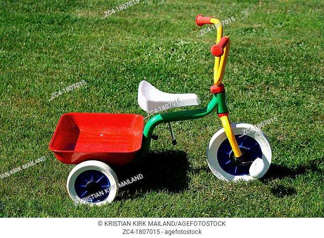 Kid's three wheeled colourful bike