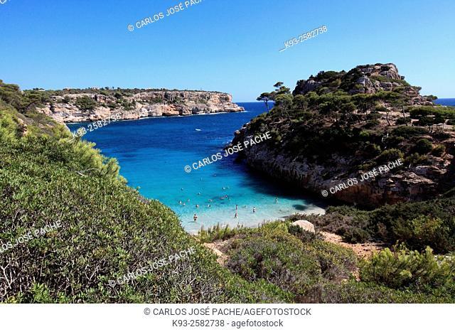 Cala S'Almonia (S'Almonia cove), Majorca, Balearic Islands, Spain