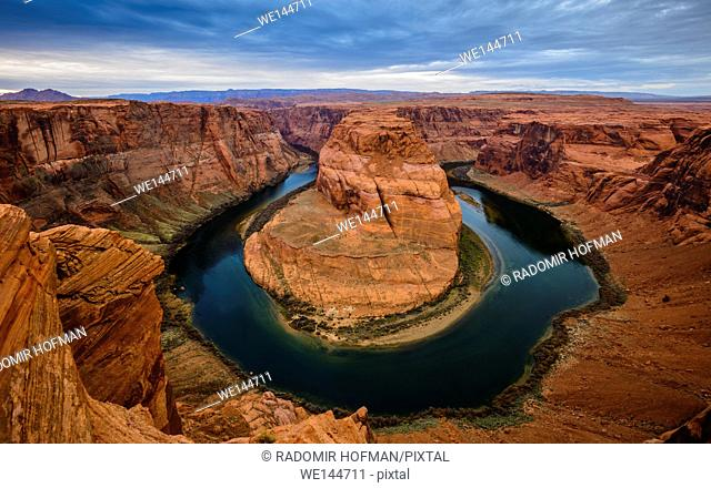 Horseshoe Bend is a horseshoe-shaped meander of the Colorado River located near the town of Page, Arizona, USA