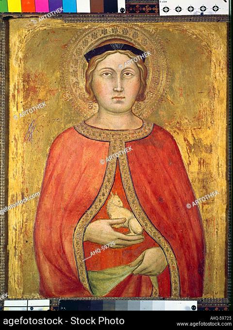 Künstler: Taddeo di Bartolo, 1362/63-1422 Titel: Die Heilige Agnes. Standort: Vaduz, Galerie Liechtenstein