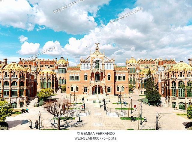 Spain, Barcelona, view to Sant Pau Art Nouveau Site