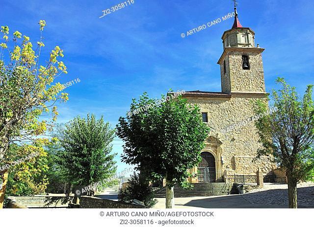 The parish church of Santa Catalina. Campillo de Dueñas town, Guadalajara province, Spain