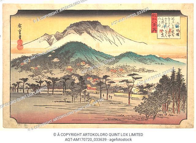 Mii no Bansho, 近江八景の内 三井晩鍾, Vesper Bells at Mii Temple, Edo period (1615–1868), 1797–1858, Japan