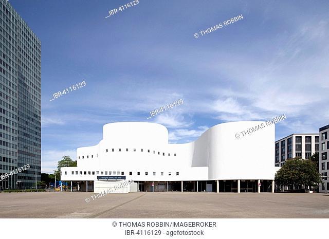 Schauspielhaus, built in 1970, designed by Bernhard Pfau, Düsseldorf, Rhineland, North Rhine-Westphalia, Germany