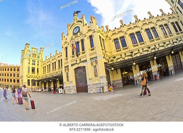 North Station, Railway Station, Estació del Nord, Valencia Art Nouveau, Good of Cultural Heritage, Valencia, Valencia Comunity, Spain, Europe