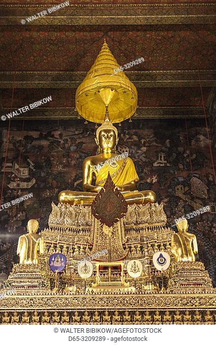 Thailand, Bangkok, Ko Ratanakosin Area, Wat Pho, Phra Buddha Deva Patimakorn, burial place of King Rama I